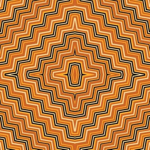 Burnt Orange and Yellow Concentric_ZigZags