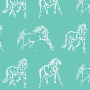 Gestural Horses Eggshell