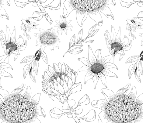 Floral_Repeat fabric by colleeno'dowd on Spoonflower - custom fabric