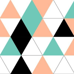 Geometric Triangles Salmon Eggshell