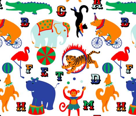 Circus Animals Alphabet  fabric by svetlana_prikhnenko on Spoonflower - custom fabric