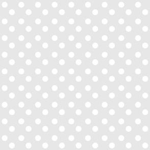 polka dots MEDIUM - gray white