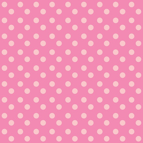 polka dots MEDIUM 2x2 -bubble gum petal