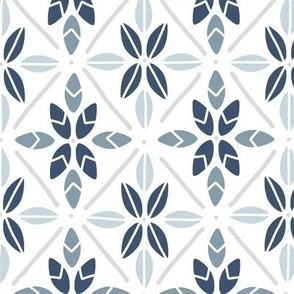 Leaves Tiled in Blue