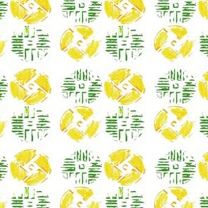 Yellow and Green Crayon Pattern