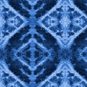 Indigo Leaf Damask