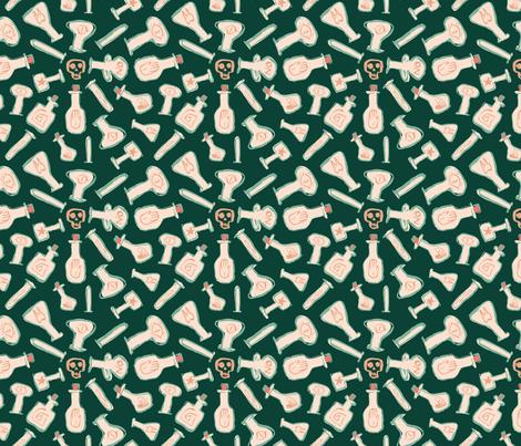 Peach bottle alchemy fabric by jmclemenson on Spoonflower - custom fabric