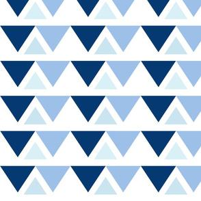 Triangle Pattern Navy breeze