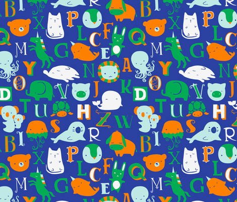 Alphabet Animals fabric by ceciliamok on Spoonflower - custom fabric