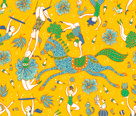 acrobati-orange fabric by gaiamarfurt on Spoonflower - custom fabric