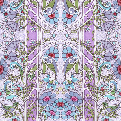 Another Lavender Spring Day fabric by edsel2084 on Spoonflower - custom fabric