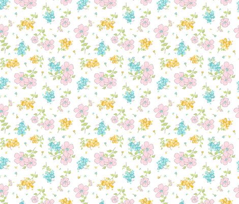 LiveSweetbrightfloralwhite fabric by livesweet on Spoonflower - custom fabric