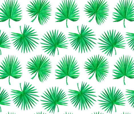 "18"" Bali Green / White fabric by shopcabin on Spoonflower - custom fabric"