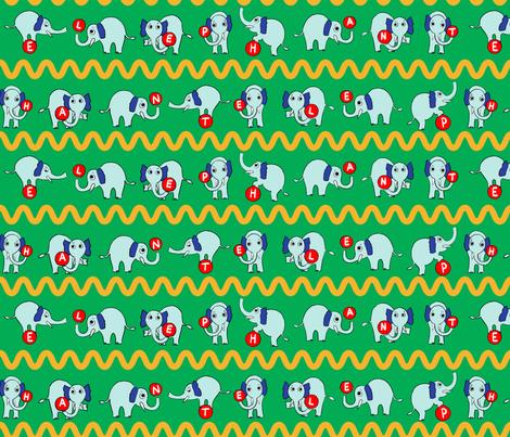 Elephants  fabric by mgdoodlestudio on Spoonflower - custom fabric
