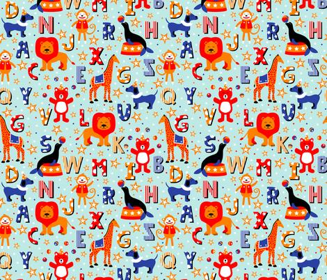 Alphabet Animal Parade fabric by robyriker on Spoonflower - custom fabric