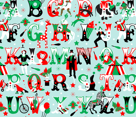 circus alphabet fabric by camcreative on Spoonflower - custom fabric