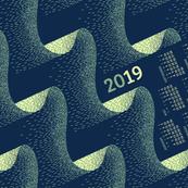 2019 Calendar, Sunday / Aurora