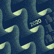 2020 Calendar, Sunday / Aurora
