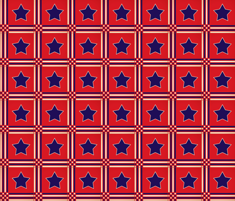 Americana Red White and Blue fabric by mammajamma on Spoonflower - custom fabric