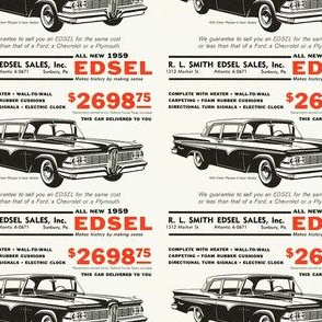 1959 Edsel RL Smith Sunbury PA dealership ad