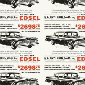 1959 Edsel RL Smith Sunbury PA dealership ad