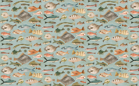 fish large  fabric by katherine_quinn on Spoonflower - custom fabric
