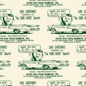 1958 Dearborn MI Edsel dealership Floyd Rice