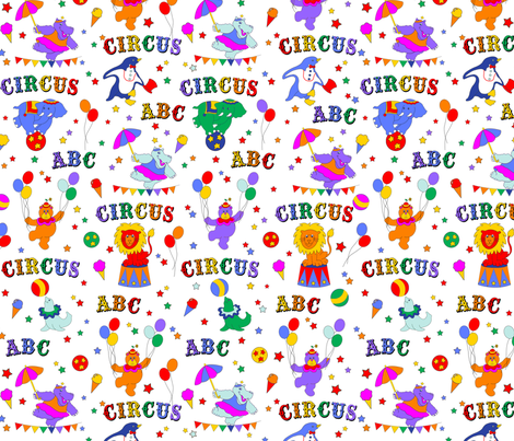 Circus Animals and Alphabets fabric by ileneavery on Spoonflower - custom fabric