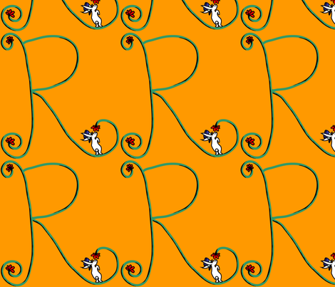 "Circus Rabbit - Alphabet Letter ""R"" fabric by madartes on Spoonflower - custom fabric"