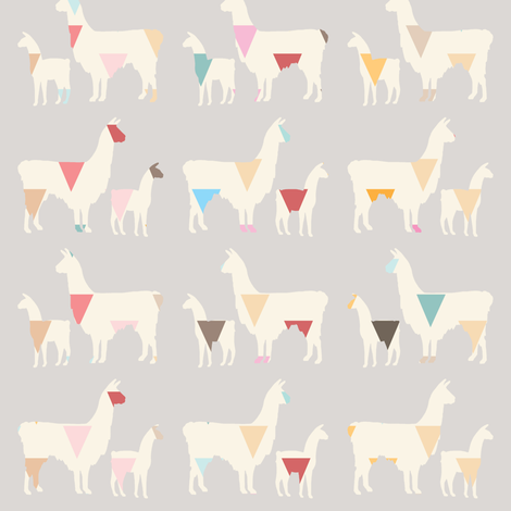 Llama Llama fabric by cooper+craft on Spoonflower - custom fabric