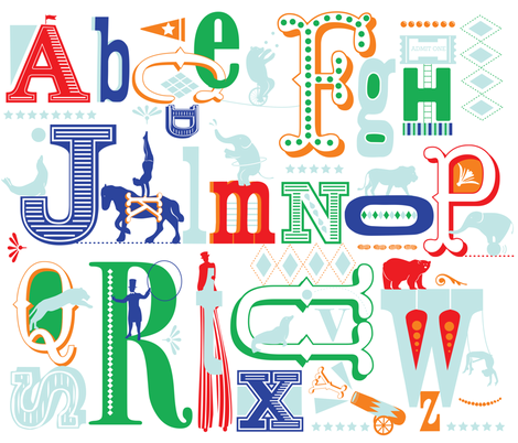 Big Top Alphabet fabric by missy_warp on Spoonflower - custom fabric
