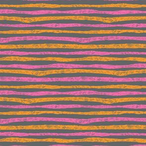 Kitty Stripe Pink Peach Gray