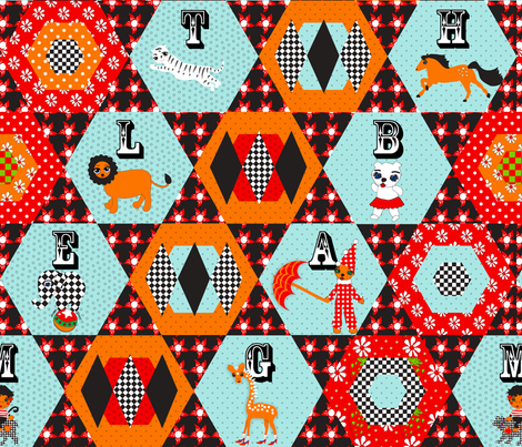 Circus Letters fabric by orangefancy on Spoonflower - custom fabric