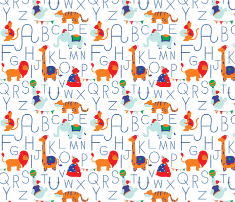 Circus Alphabet fabric by svaeth on Spoonflower - custom fabric