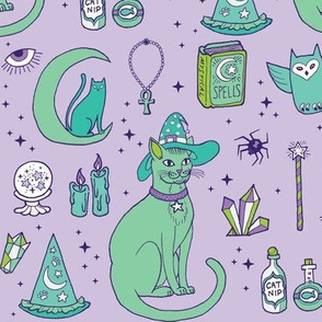 Mystic Cats in Purple