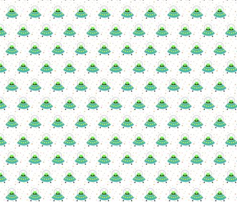 UFO and Alien fabric by shortcake_studio on Spoonflower - custom fabric