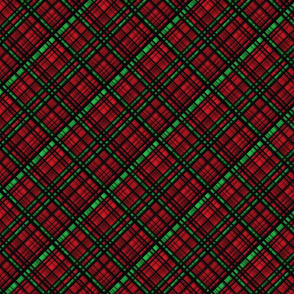 Hawaiian Christmas Plaid Red/Green Small