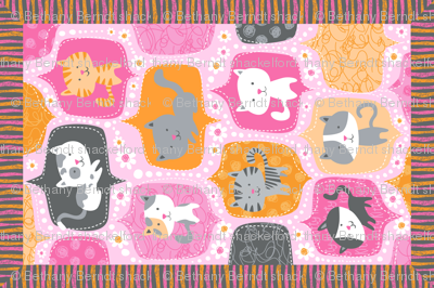 Kitty Minky Blanket