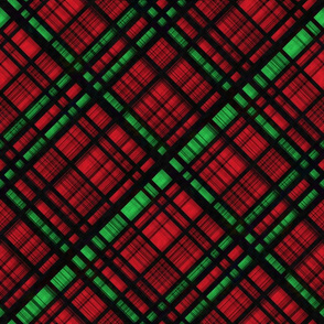 Hawaiian Christmas Plaid - Red/Green Large