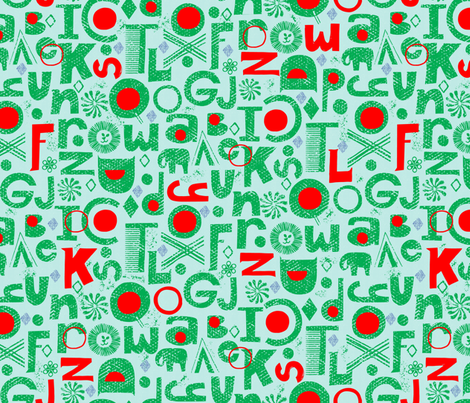 alphabet-abc-letters fabric by ottomanbrim on Spoonflower - custom fabric