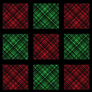Hawaiian Christmas Red and Green Plaid