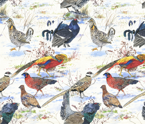 Galliformes! fabric by infamous_sphere_ on Spoonflower - custom fabric