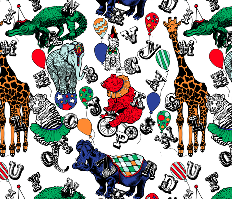 A- B- See You At The Circus! fabric by little_miss_alexandra on Spoonflower - custom fabric