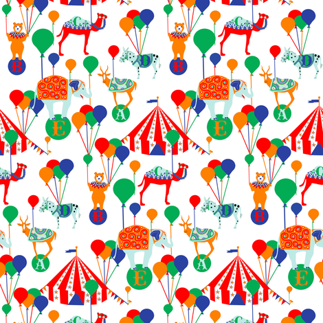 Circus Animals A through E fabric by eclectic_house on Spoonflower - custom fabric