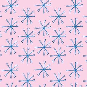 Hairpins in Blue