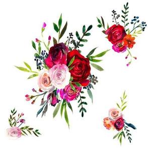 Crimson Roses Floral Bouquet