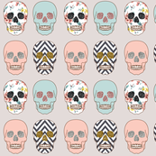 Cute Skull Chevron