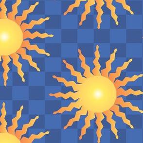 The Italian Sun blue and yellow