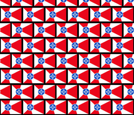 Wichita Flags fabric by spacefem on Spoonflower - custom fabric