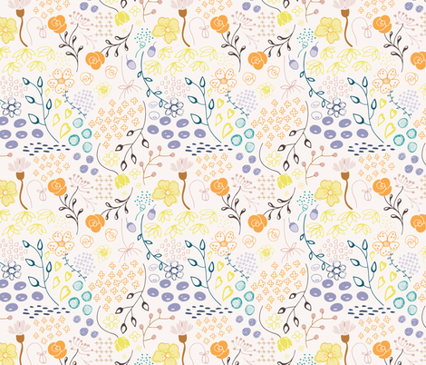 Summer Floral fabric by michellegracedesign on Spoonflower - custom fabric
